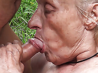 ugly 86 year old mom banged in public mature blowjob