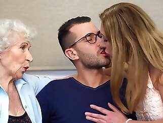 Taboo hot sex with moms and grannies hairy blowjob