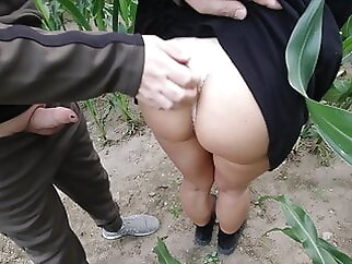 risky public nature fuck in a cornfield - projectsexdiary cumshot blowjob